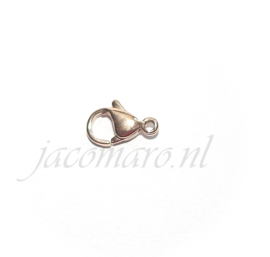 OND804 karabijn sluiting rose gold stainless steel 12mm.