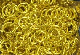 aluminium (citroen)geel 1.2x6.6mm. (gezaagd)