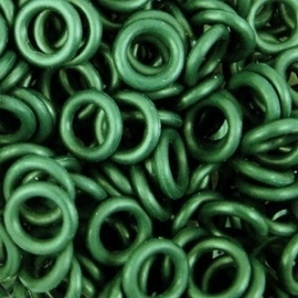 Rubber ring 1.7x6.4mm. groen