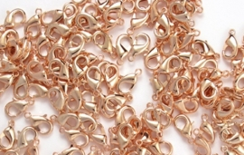 OND348 karabijn sluiting rose gold plated 12mm.