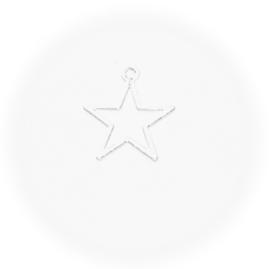 OND789 bedel open Star silver 14.5x13.5mm. p.s.