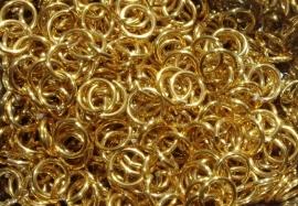 aluminium goud 1.0x5.0mm. (gezaagd)