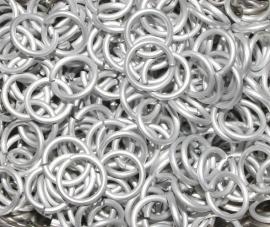 aluminium Frost 1.6x6.6mm. (gezaagd)
