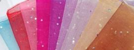 ORG.07 Organza tasje 25x18cm. in 9 kleuren