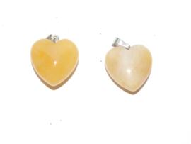 EK128 Natural Yellow Turquoise hanger in hartvorm incl. clip