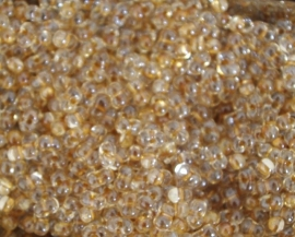 BBM-1522 berry bead Spkl. Honey Beige Lined Crystal  4.5x2.5mm.