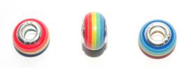 EB0393 European Rondelle Bead rainbow 14x8-8.5mm.