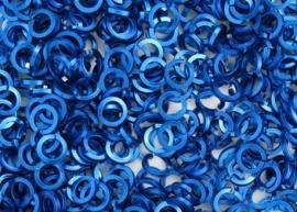 aluminium vierkante draad Royal Blue 1.2x4.2mm.(gezaagd)