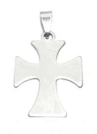 OND547 pendant cross stainless steel 38x24mm.