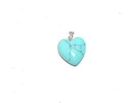 EK130 Coloured Turquoise hanger in hartvorm incl. clip