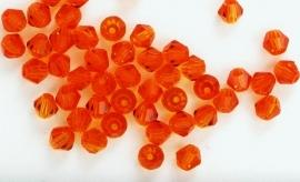CC5301 Red Topaz 4mm. per 10 stuks