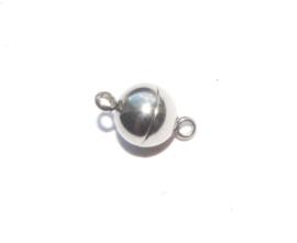 OND635 magnetische bol sluiting stainless steel 14x8mm.