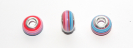 EB0395 European Rondelle Bead rainbow 14x8-8.5mm.