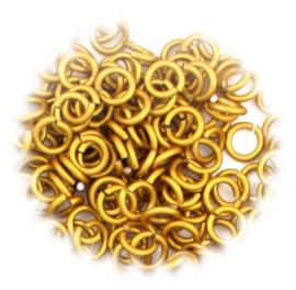 aluminium mat goud 1.2x4.0mm. gezaagd