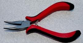 NIEUW: OND447A Sieraden krombek tang met ergonomische handgreep en kartelbek 13.5cm. p.s.