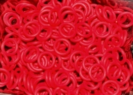 Rubber ring 1.2x5.0mm. helder rood