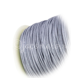 OND670 imitatie zijde koord 0.8mm. dark gray 10 mtr.