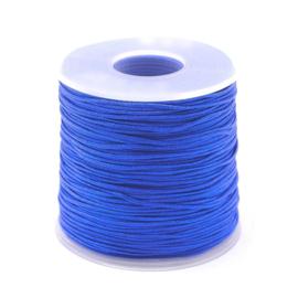OND746 imitatie zijde koord 1.0mm.   blue 10 mtr.