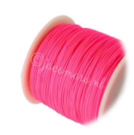 OND706 imitatie zijde koord 0.8mm. deep pink 10 mtr.