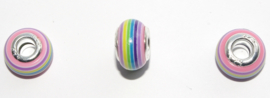 EB0392 European Rondelle Bead rainbow 14x8-8.5mm.