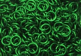 aluminium groen 1.2x4.0mm. (gezaagd)