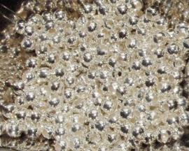 MK133 silverplated ronde kraal 5mm. rijggat 1.9mm. per 10 stuks