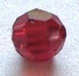 SWK018  swarovski bicone ruby 4mm. zakje 5 stuks