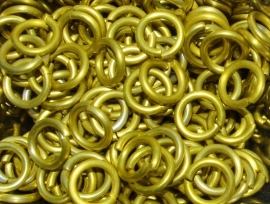 aluminium geel 1.6x6.6mm. (machinaal)