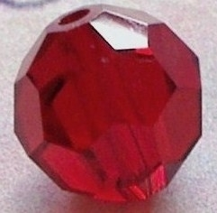SWK017  swarovski bicone ruby 6mm. zakje 3 stuks