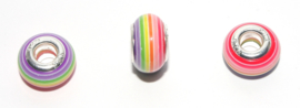 EB0396 European Rondelle Bead rainbow 14x8-8.5mm.