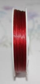 OND177-rood gecoat staaldraad 0.45mm. 1,2,3,4 of 5 mtr.