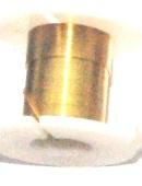 OND638  koperdraad 0.3mm.  gold 2.45 mtr.