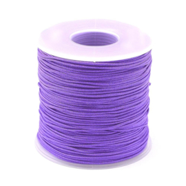 OND749 imitatie zijde koord 1.0mm.  blue violet10 mtr.