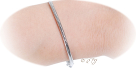 RTJ-091 Stainless steel armband Snake 19.5cm.