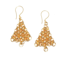 Insp. 129 Christmas Tree earrings gold