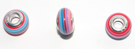 EB0390 European Rondelle Bead rainbow 14x8-8.5mm.
