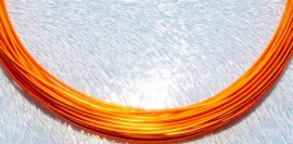 WAC71 Orange plated aluminium draad 0.8mm. 10 mtr.