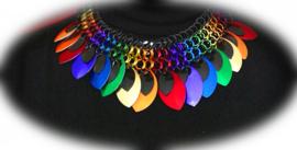 D.I.Y. pakket 124 Colorful Rainbow Collier 45cm.