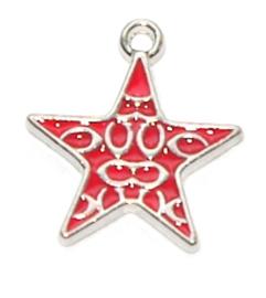 OND795 bedel geglazuurde Red Star 23.0x20.0mm. p.s.