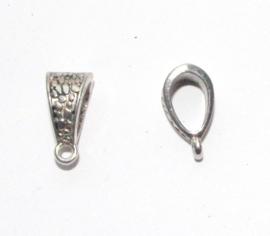 OND612 ant.silver bail voor bedel/hanger 14.5x7.5x8.5mm. p.s.