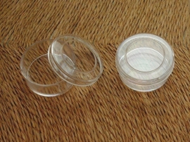 SORT.07 Bead container rond transp. 3x1.8cm