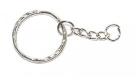 OND436 metalen zilverkleurige sleutelhanger incl. kettinkje