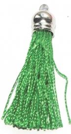 BM115/green  Terylene pendant kwastje 45x10mm.