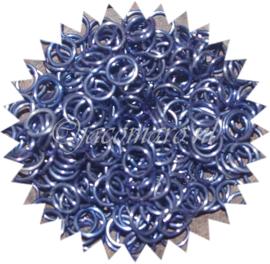 titanium sluitring donkerblauw  NK 1.2x6.6mm. (gezaagd 25st.)