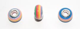 EB0400 European Rondelle Bead rainbow 14x8-8.5mm.