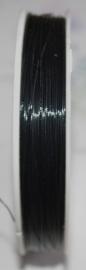 OND177-zwart gecoat staaldraad 0.45mm. 1,2,3,4 of 5 mtr.