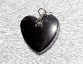 EK082  hematite pendant Heart incl. bail 20x20mm.
