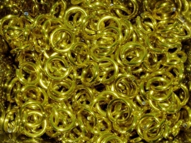 aluminium geel 1.0x4.0mm. (gezaagd)