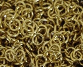 aluminium goud 1.2x5.0mm. (gezaagd)