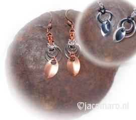 D.I.Y.134 pakket Oorhangers Circle Silver/Copper & Aluminium/Rubber 2 paar